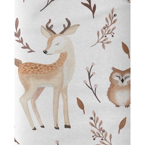 Almondine - Fleece Minky Dots